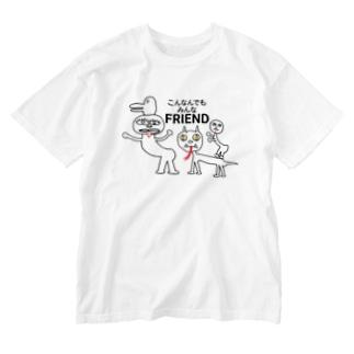こんなんでもみんな友達 Washed T-shirts