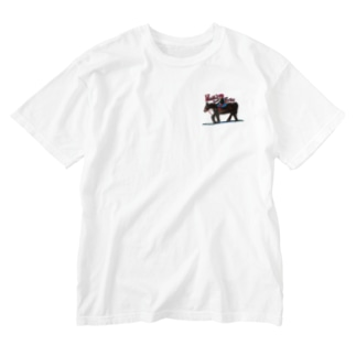 旅に出よう Washed T-shirts