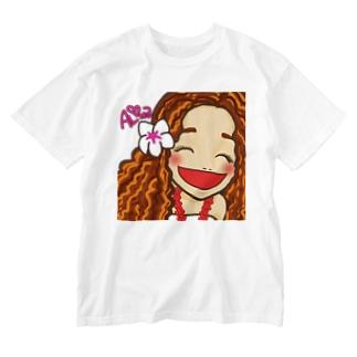 フラガール Washed T-shirts