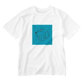 水色好きのため Washed T-shirts