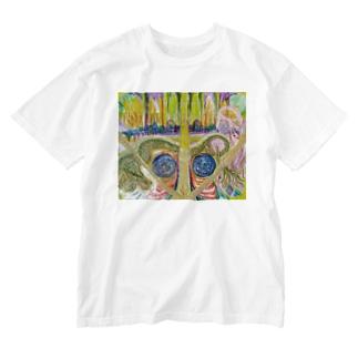 光と祈り Washed T-shirts
