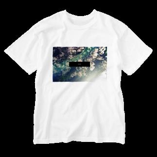xxx。のxxx.midnight flower Washed T-shirts