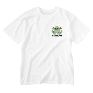 クトゥルフ Washed T-shirts