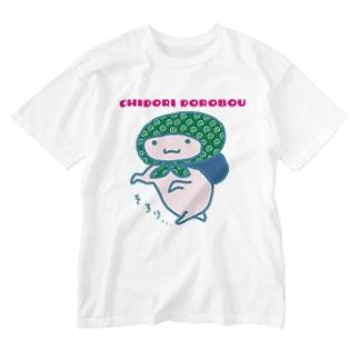 ちどりどろぼう Washed T-shirts