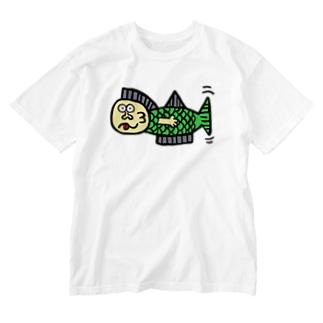 さかなフィッシュさん Washed T-shirts