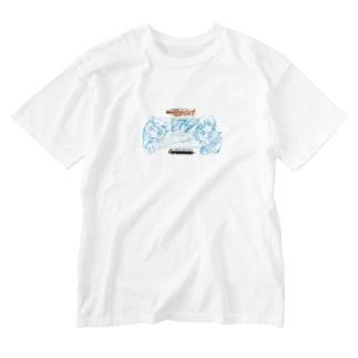 ミルキー豊後黒豚×クロスオーバーレブ! Washed T-shirts