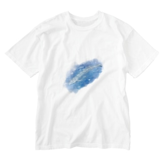 シロナガスクジラ Washed T-shirts