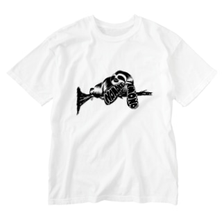 ナマケモノ Washed T-shirts