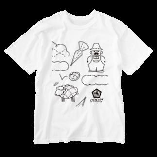 ORUBYのmelon pan tree farm Washed T-shirts