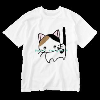 りんご姫〜lovely comaのねこちゃん Washed T-shirts