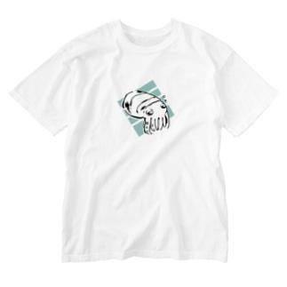 コブシメの赤ちゃん Washed T-shirts