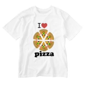 アイラブ☆ピザ Washed T-Shirt