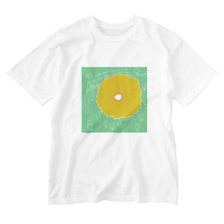 Cat & Flower Washed T-shirts