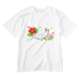 セキセイインコのピーコちゃんⅡ Washed T-shirts