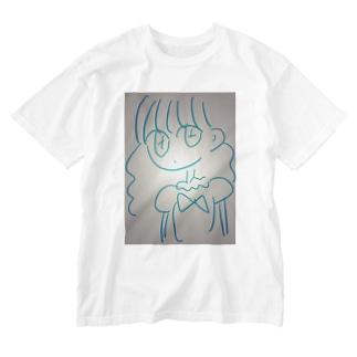 お嬢様ガール Washed T-shirts