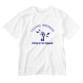 テクノブレイカー Washed T-shirts