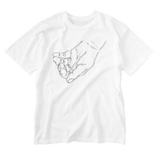 掬う手 Washed T-shirts