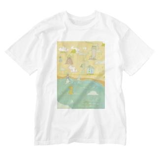 港町 Washed T-shirts