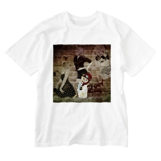 CAT GIRL 道草2 Washed T-shirts