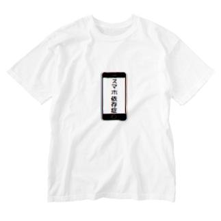 スマホ依存症 Washed T-shirts
