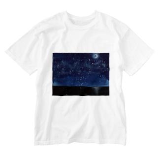 夜空と海 Washed T-shirts