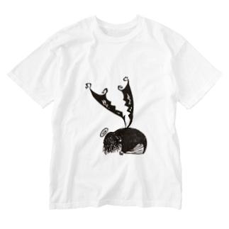 凹み神  Washed T-shirts