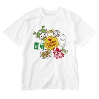 ステッカーぺたぺた風 Washed T-shirts