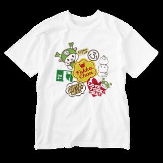 ふっかちゃんグッズショップのステッカーぺたぺた風 Washed T-shirts
