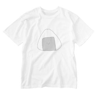おにぎりくん Washed T-shirts