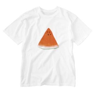 すいか Washed T-shirts