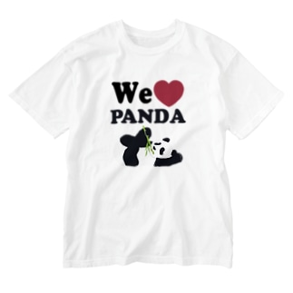 we love パンダ Washed T-Shirt