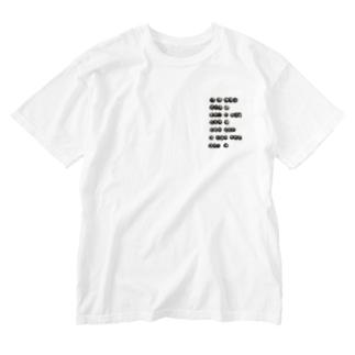 牛乳ビンのマモノ(タピオカ) Washed T-shirts