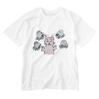 銀だこ Washed T-shirts