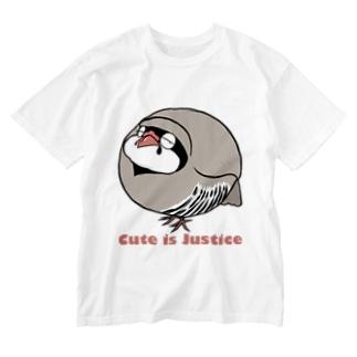 イワシャコの存在が正義 Washed T-shirts
