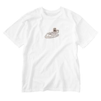 餃子ビール(シンプル) Washed T-shirts