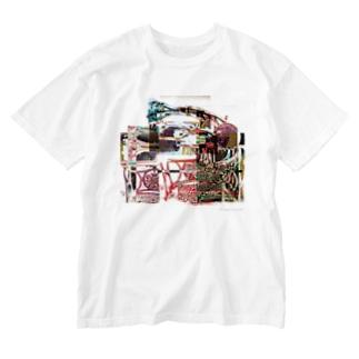 再構成~棄てられたミシン2 マルチカラー Washed T-shirts