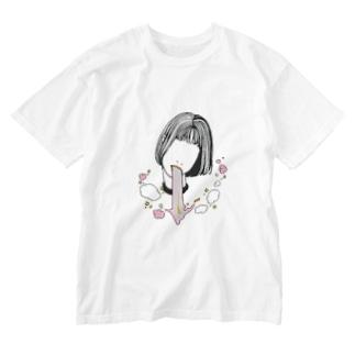 虹吐き病 Washed T-shirts