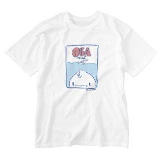 オバ吉くん素潜りお上手ですね Washed T-shirts