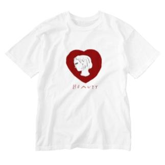美女は横顔で語る Washed T-shirts