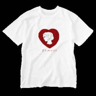 明季 aki_ishibashiの美女は横顔で語る Washed T-shirts