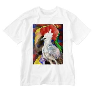 見守る者 Washed T-shirts