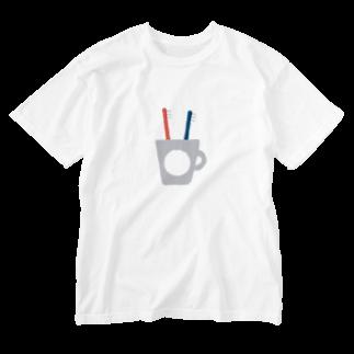 ▷            chiroruのふたつの歯ブラシ。 Washed T-shirts