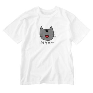 あめりかんしょーとへにゃー Washed T-shirts