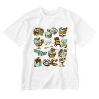 チョコミント Washed T-shirts