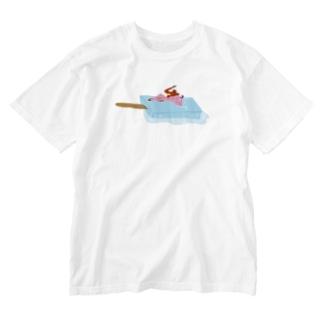 アイスべき女たち Washed T-shirts