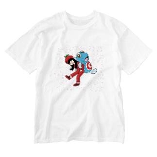 トマトのねえとガタちゃん Washed T-shirts