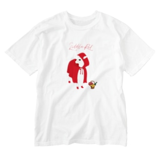 SWISS BLUEのlittle red Washed T-shirts