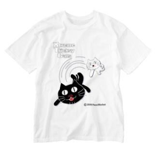 ネコ兄弟 tXTC_58 Washed T-shirts