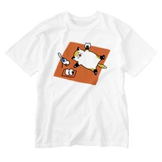 おにぎりうま〜 Washed T-shirts