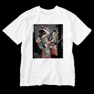 Gotandaの祖母、15歳、爆心地 Washed T-shirts
